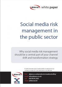 social media risk management public sector white paper cover